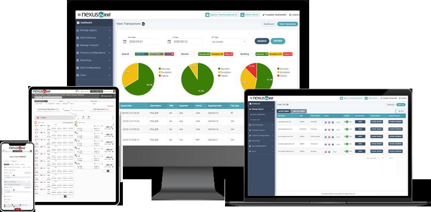 NexusWind - NDC Corporate booking engine